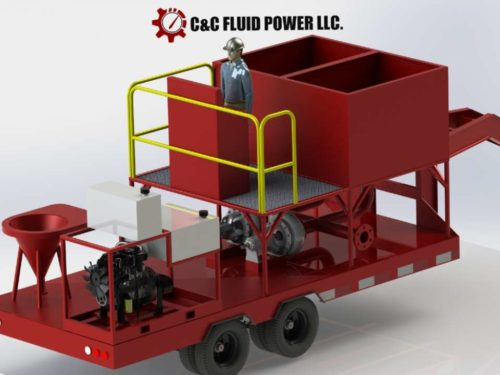 C and C Fluid Power 30 barrel small blend plant