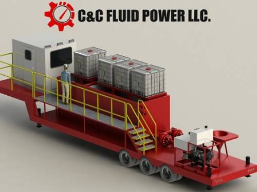 C and C Fluid Power Red 100 Barrel Blending Unit
