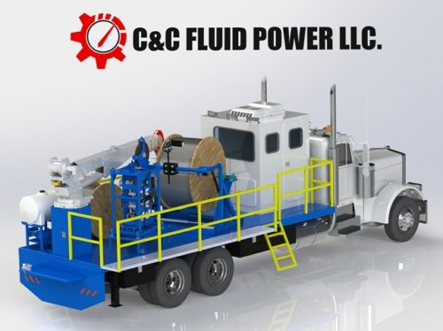C & C Fluid Power - capillary truck unit rendering