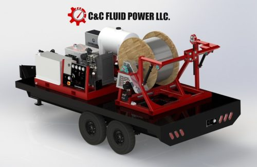 C & C Fluid Power - deckover single strapping trailer
