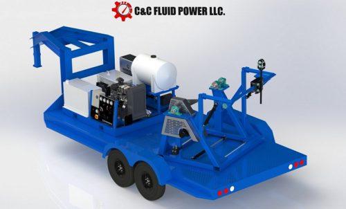 C & C Fluid Power - gooseneck single strapping trailer