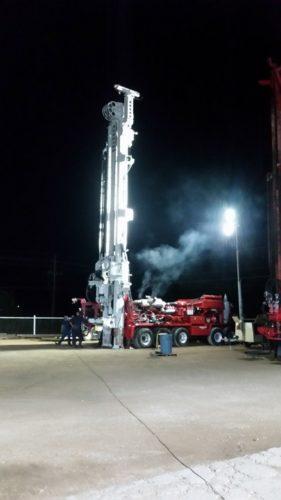 hydraulic drilling rig testing