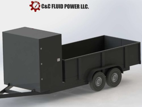Hydraulic Dump Trailer with Enclosure by C and C Fluid Power