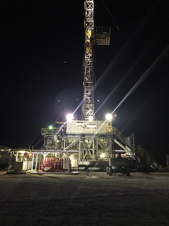 C and C Fluid Power - Late night drilling rig service call